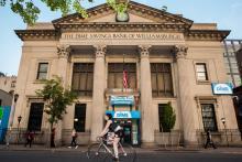 The Dime Savings Bank of Williamsburgh in the Brooklyn.