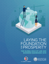 2019 Rule of Law Dashboard Report Cover