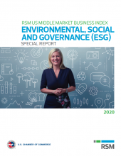 RSM U.S. Middle Market Business Index Special Report (May 2020): ENVIRONMENTAL, SOCIAL AND GOVERNANCE (ESG)