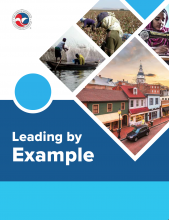 """Cover image for """"Leading by Example"""" the report from the Task Force to Eradicate Human Trafficking"""