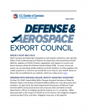 Defense and Aerospace Export Council Newsletter image