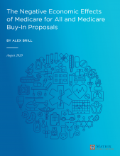 "Cover of the Report ""The Negative Economic Effects of Medicare for All and Medicare Buy-In Proposals"""