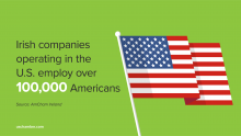 American Employees in Ireland Graphic