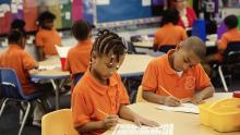 Children at KIPP Northstar Academy working hard.