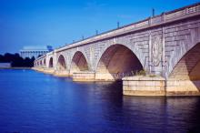 The Memorial Bridge in Washington D.C. leads from Virgina to the District of Columbia