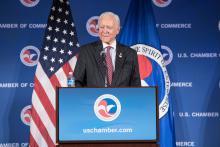 Senate Finance Committee Chairman Sen. Orrin Hatch (R-Utah) speaks at the U.S. Chamber.