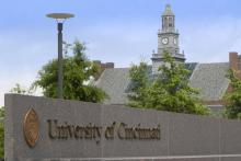 University of Cincinnati main entrance.