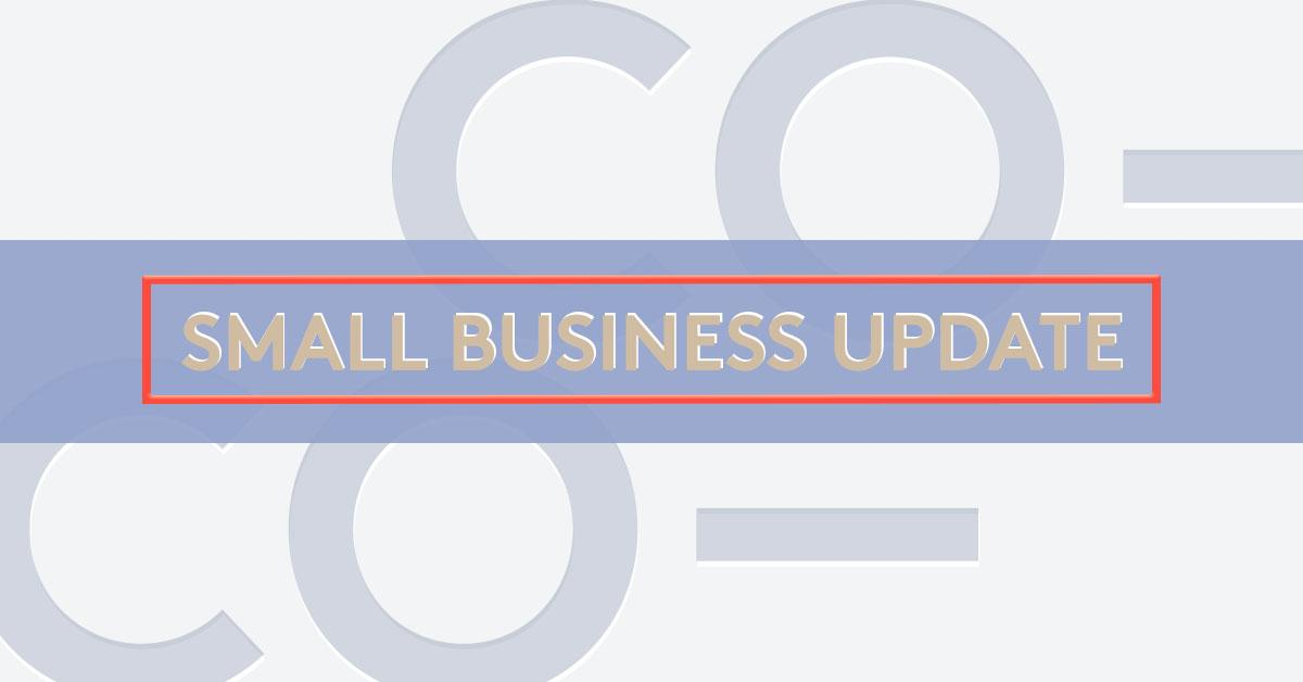 Register today for the Small Business Update from CO—