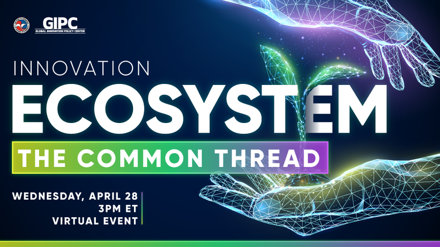 Innovation Ecosystem Event Graphic for April 28, 2021