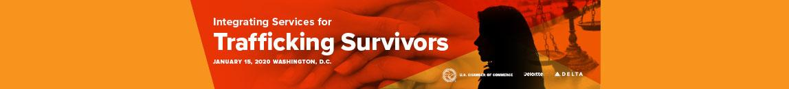 Human Trafficking Event Banner - Integrating Services for Trafficking Survivors - January 15th event