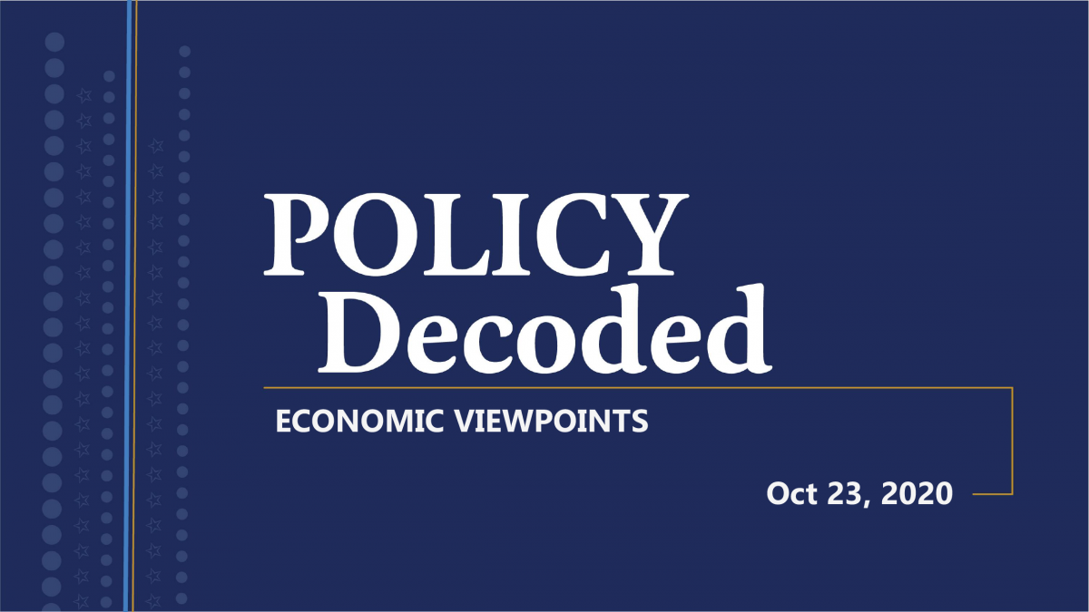 Policy Decoded Event Graphic for October 2020