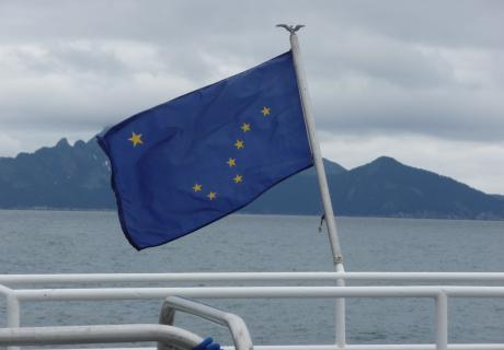Alaska flag scene