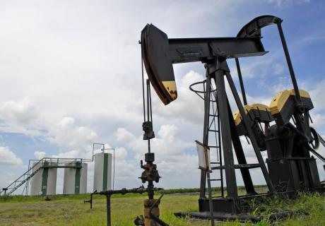 An oil pump jack near Corpus Christi, Texas.