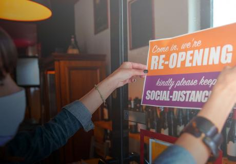 Small business opeining doors after Coronavirus