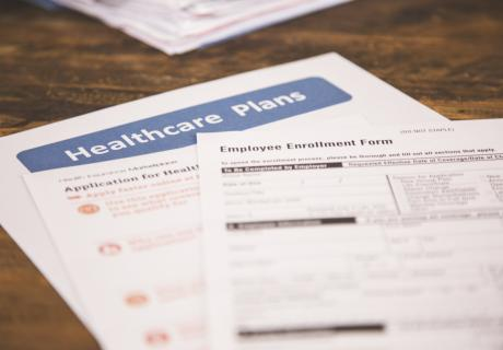 Employee health insurance enrollment forms