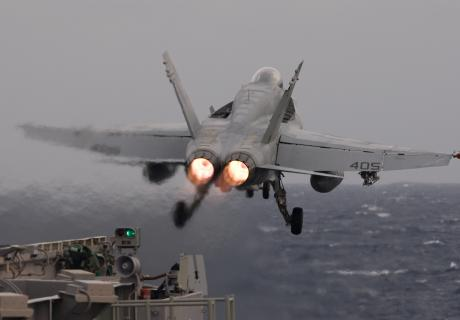 F/A-18C Hornet catapult launch