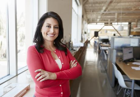 Proud Latina small business owner portrait