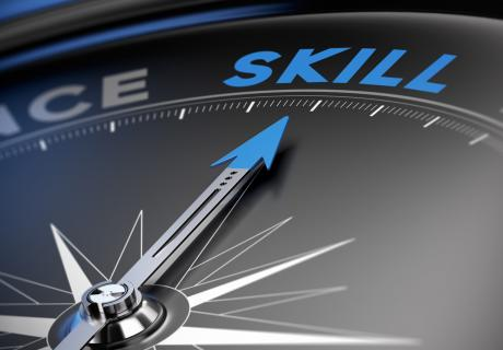 """Compass pointing to """"skills"""""""