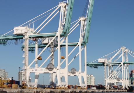 Cranes at the Port of Miami.