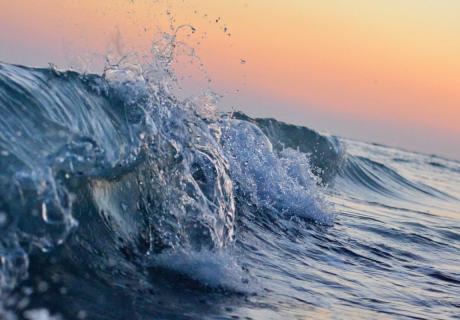 Waves off Anna Maria Island, United States.
