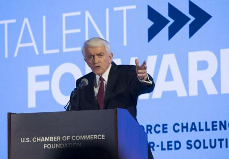 Tom Donohue speaks at 2018 Talent Forward.