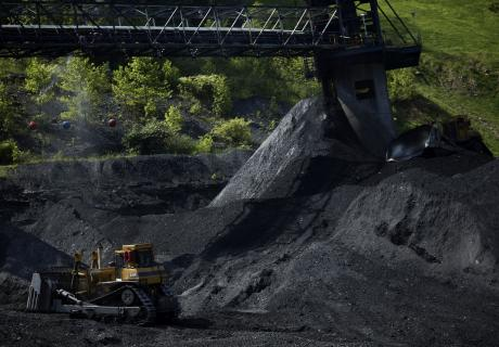 A coal mound in Yolyn, W.V.