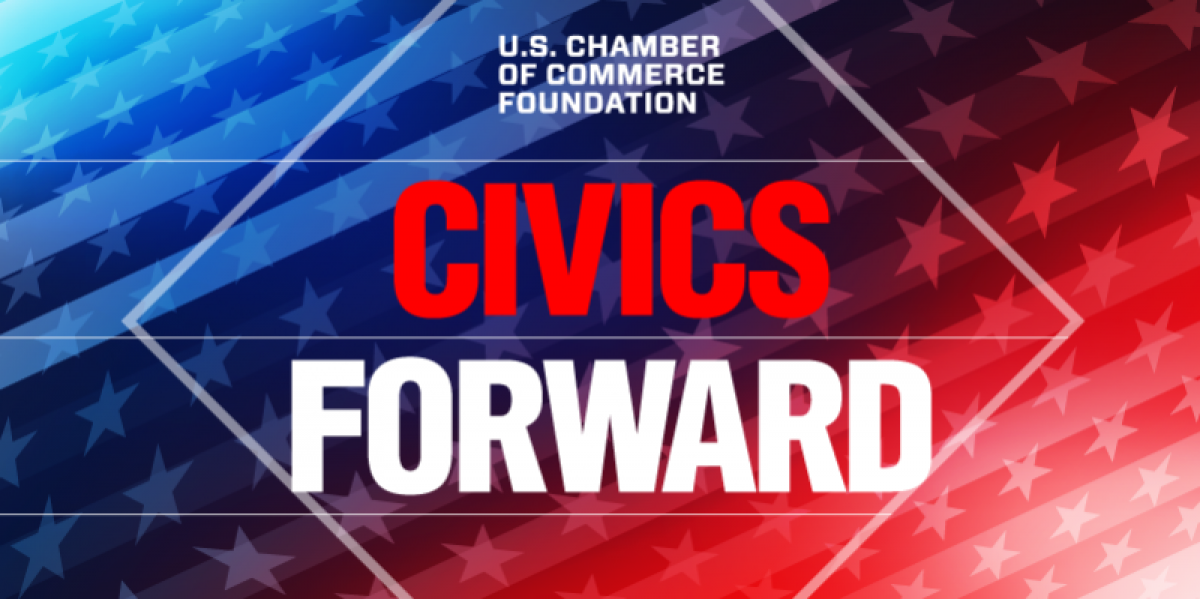 Civics Forward Event Graphic promoting the Foundation event