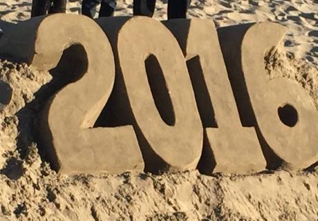 2016 as sand art