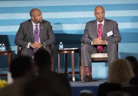 Sen. Tim Scott (R-S.C.) (left) and former Education Secretary Rod Paige at the U.S. Chamber of Commerce Foundation and NAACP event: The Path Forward, Improving Opportunities for African-American Students.