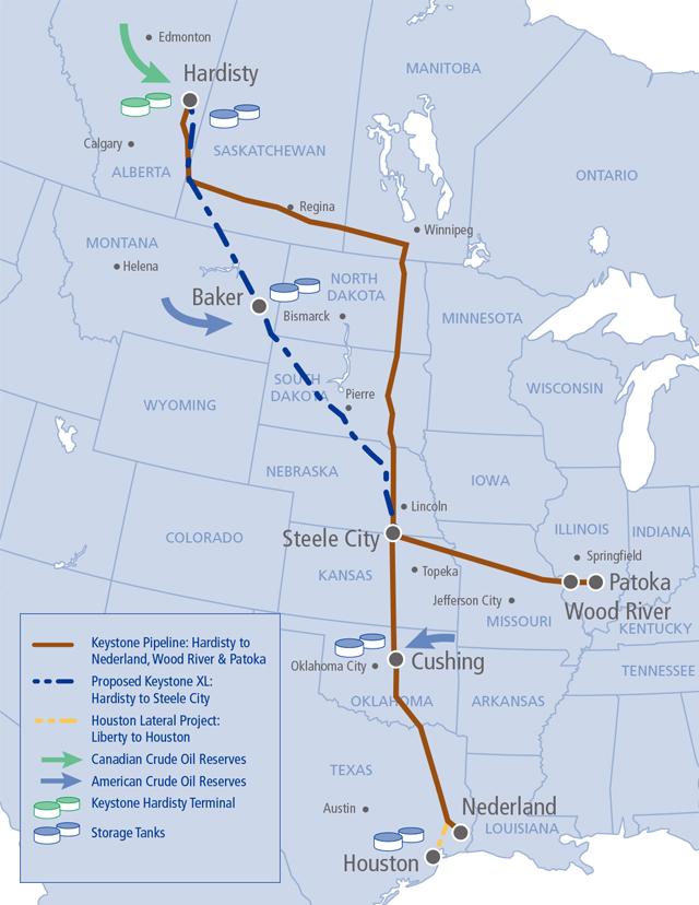 Keystone pipeline system.