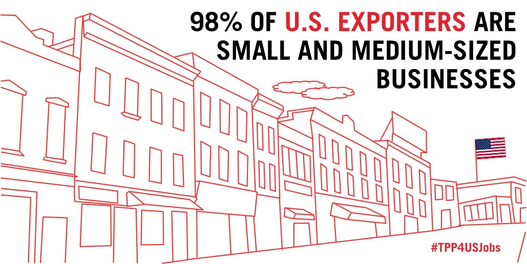 98% of U.S. exporters are small and medium-sized businesses.