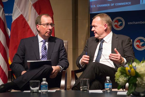 John Murphy with Danish Prime Minister Lars Løkke Rasmussen