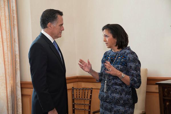 Mitt Romney and Lisa Rickard at ILR's Legal Reform Summit