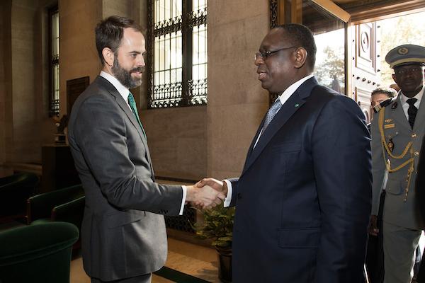 Scott Eisner with Senegalese President Macky Sall