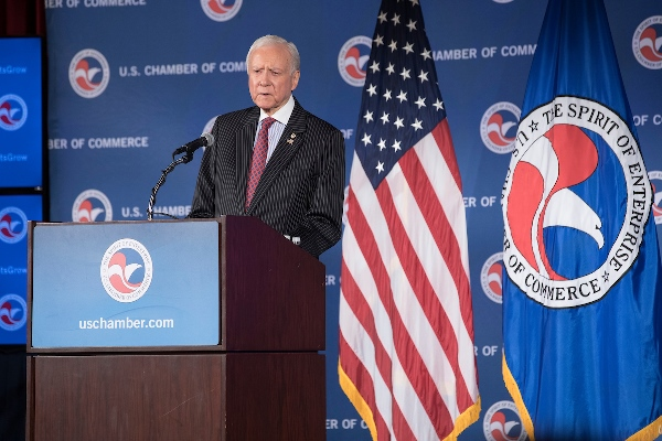 Orrin Hatch at the U.S. Chamber