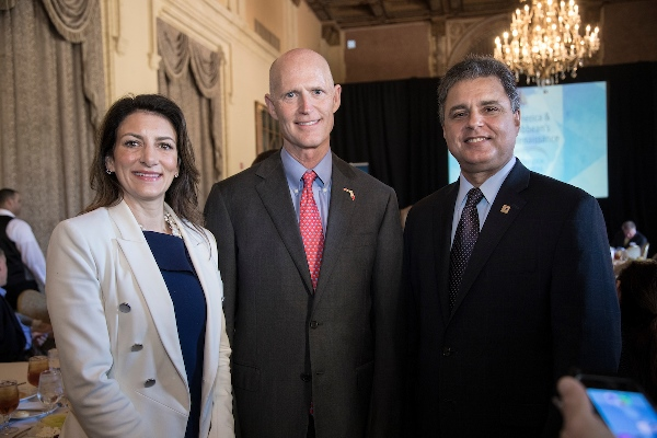 Jodi Hanson Bond, Rick Scott, and Thomas Kenna
