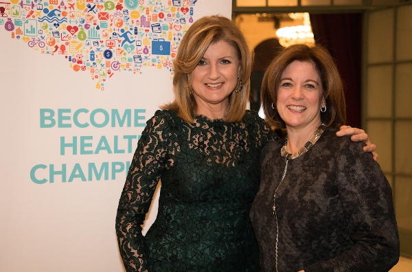 Arianna Huffington and Suzanne Clark