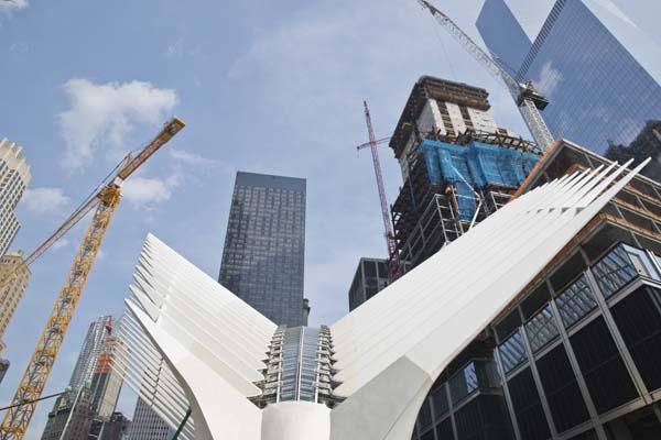 The World Trade Center Transportation Hub designed by Santiago Calatrava.