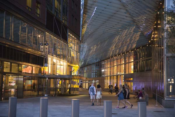 Goldman Sachs has its New York headquarters opposite from the World Trade Center complex.