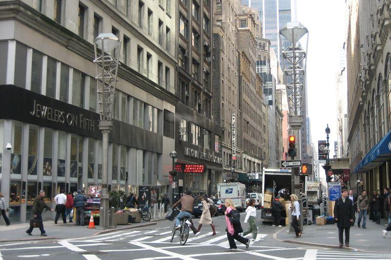 New York City's Diamond District.