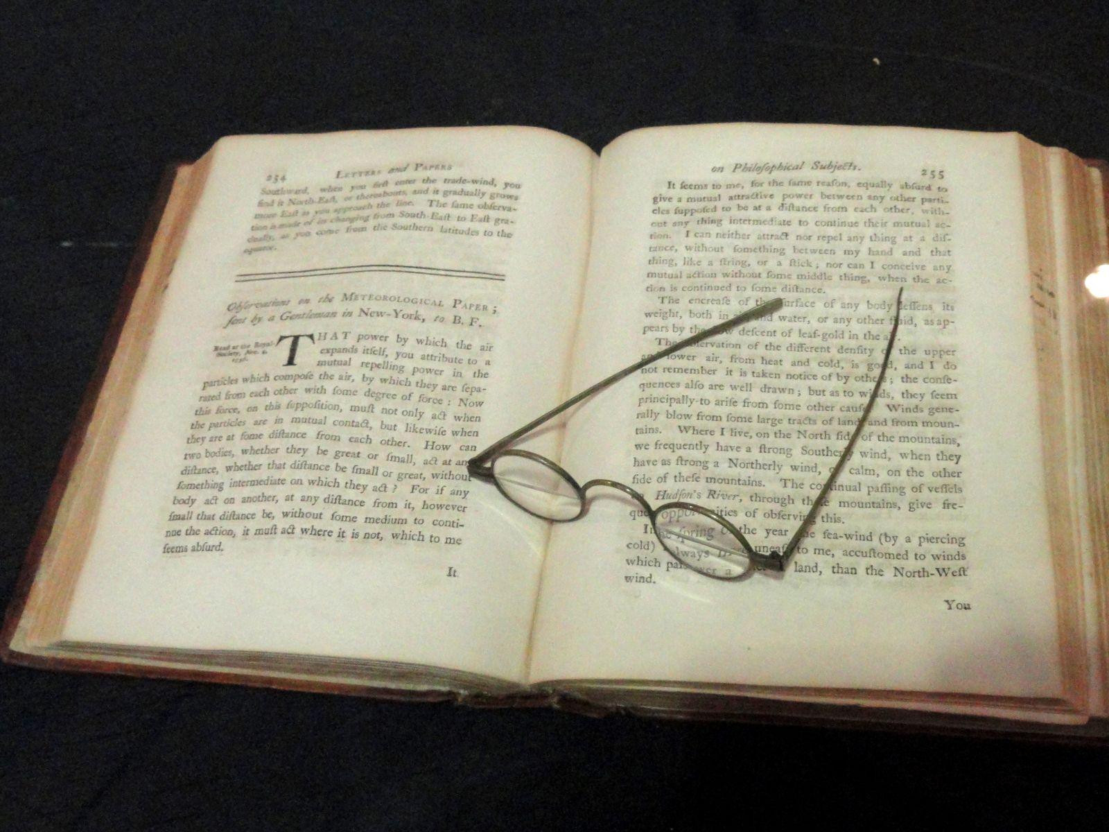Bifocals by Benjamin Franklin.