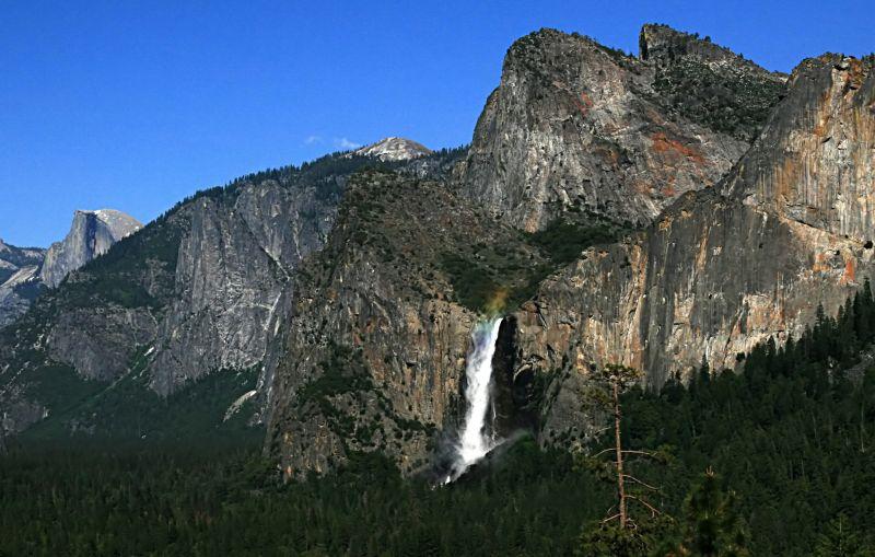 Bridalveil Fall at Yosemite National Park.