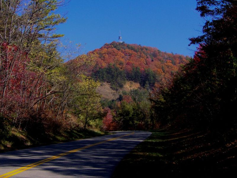 Foothills Parkway approaching Look Rock in Great Smoky Mountains National Park