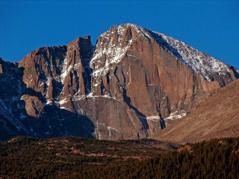 East face of Longs Peak in Rocky Mountain National Park
