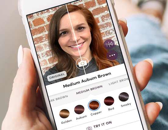 screen of madison reed hair color app