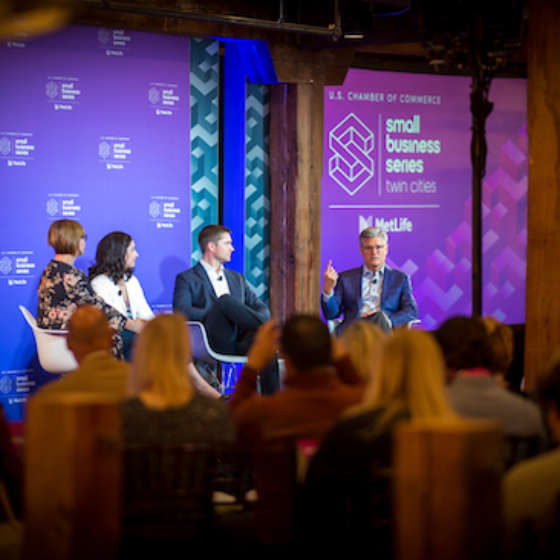 panel discussion at twin cities small business series