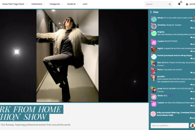 screenshot of betabrand at-home fashion show