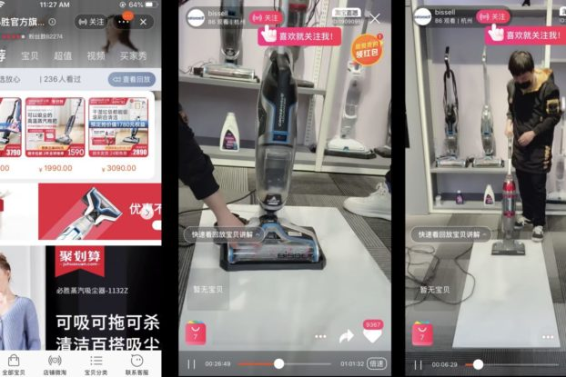 bissell livestreaming in china