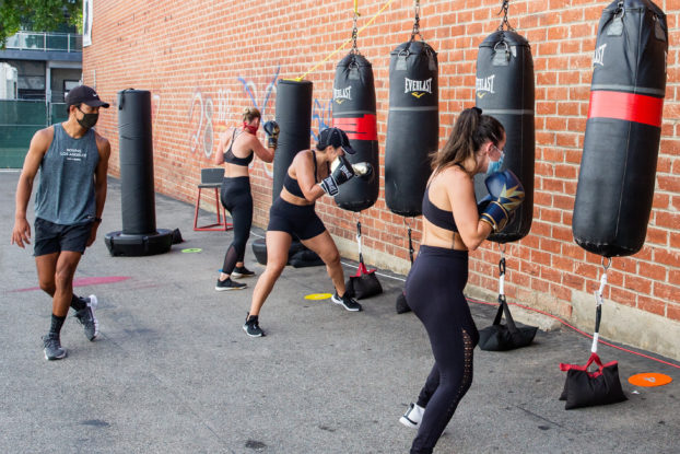 Box 'N Burn has taken it outside with fully-equipped, open-air boxing classes.
