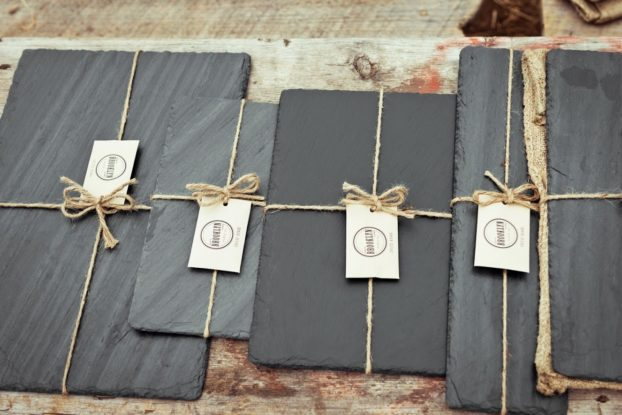 American-made slate cheese boards by Brooklyn Slate